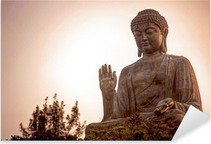 Giant Buddha Pixerstick Sticker
