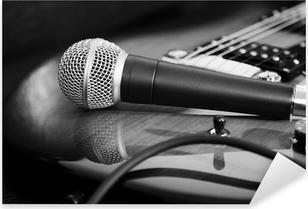 Pixerstick Sticker Gitaar en microfoon