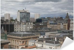 Glasgow Cityscape Pixerstick Sticker