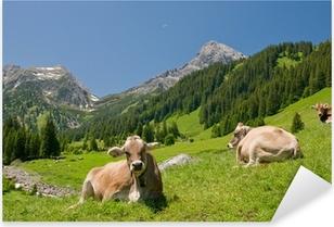 Glückliche Kühe Pixerstick Sticker