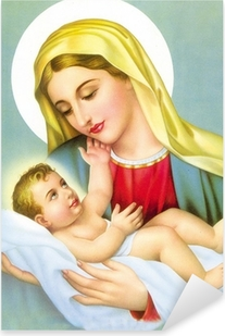 GOD JESUS WITH MOTHER MARRY Pixerstick Sticker