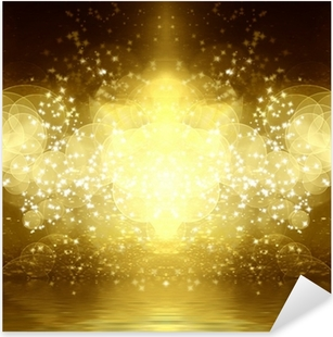 gold glitter Pixerstick Sticker