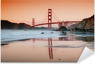 Golden Gate Bridge, San Francisco Pixerstick Sticker