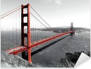 Golden Gate Bridge Pixerstick Sticker