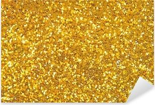 golden glitter background Pixerstick Sticker