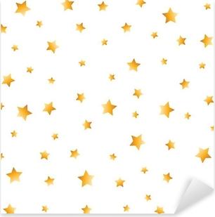 golden stars Pixerstick Sticker