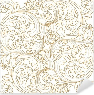 Vector Vintage Baroque Frame Scroll Pattern Wall Mural O PixersR We Live To Change