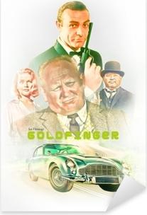 Goldfinger Pixerstick Sticker