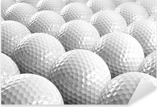 Golf balls Pixerstick Sticker