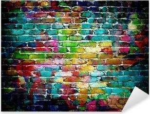 graffiti brick wall Pixerstick Sticker