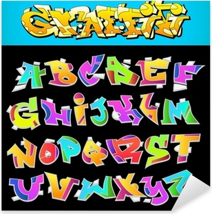 funny green glossy bubble font graffiti alphabet Sticker