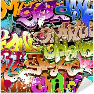 Graffiti seamless background. Urban art texture Pixerstick Sticker