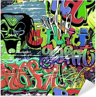 graffiti wall vector seamless background Pixerstick Sticker