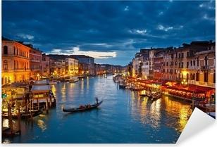 Grand Canal at night, Venice Pixerstick Sticker
