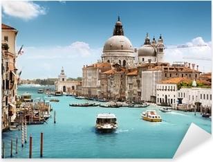 Pixerstick Sticker Grand Canal en de basiliek Santa Maria della Salute, Venetië, Italië