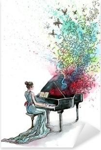 grand piano music (series C) Pixerstick Sticker