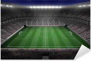 Sticker Pixerstick Grand stade de football avec des lumières
