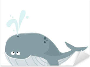 Sticker Pixerstick Grande baleine bleue