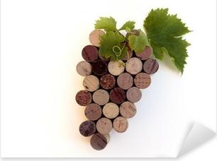 """Grappe de """"bouchon en liège"""" - Symbolisation du Vin Pixerstick Sticker"""
