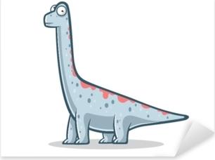 Pixerstick Sticker Grappige brachiosaurus van het beeldverhaal