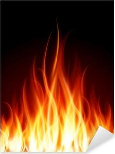Sticker Pixerstick Gravez flamme vecteur de fond d'incendie