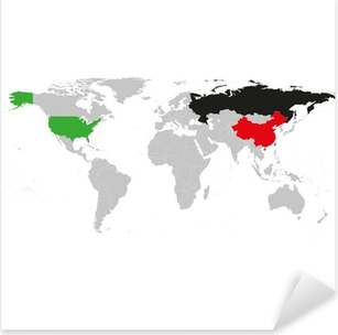 Black political world map vector sticker pixers we live to change gray political world map vector pixerstick sticker gumiabroncs Choice Image