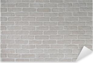gray wall Pixerstick Sticker