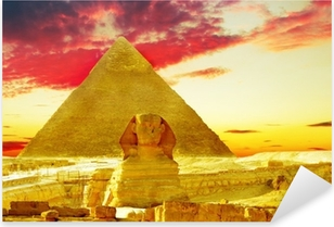 Great Pyramid of Pharaoh Khufu, located at Giza and the Sphinx. Pixerstick Sticker