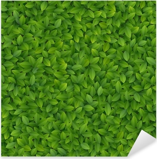 Green leaves texture. Pixerstick Sticker