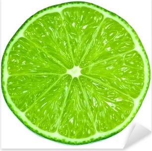 Green Limes Pixerstick Sticker