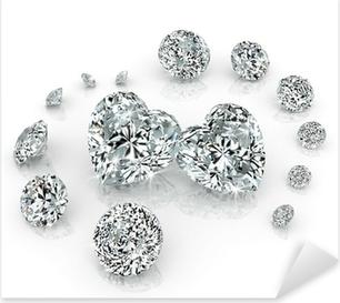 Sticker Pixerstick Groupe de diamants