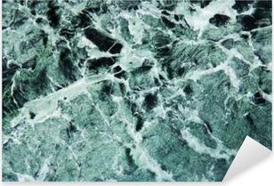 Sticker Pixerstick Grüner Marmor