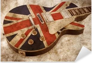 grunge brit pop guitar Pixerstick Sticker