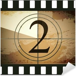 Grunge film countdown Pixerstick Sticker
