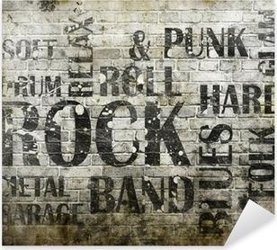 Grunge rock music poster Pixerstick Sticker