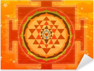 Pixerstick Sticker Grunge Shree Yantra