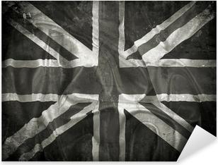 Grunge Union Jack flag background Pixerstick Sticker