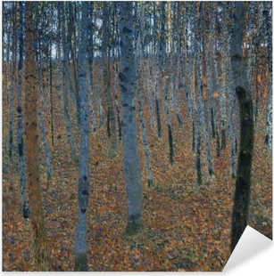 Gustav Klimt - Birch Forest Pixerstick Sticker