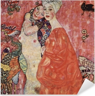 Gustav Klimt - Friends Pixerstick Sticker