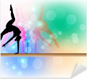 Sticker Pixerstick Gymnastique artistique - Poutre