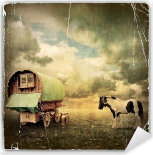 Sticker Pixerstick Gypsy Wagon, Caravan