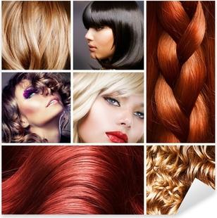 Hair Collage. Hairstyles Pixerstick Sticker
