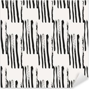 Pixerstick Sticker Hand getekende abstracte Naadloze Patroon