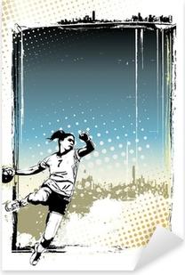 Sticker Pixerstick Handball fond d'affiche