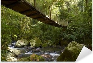 Pixerstick Sticker Hangbrug in het regenwoud