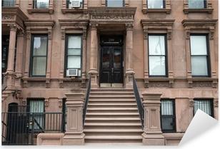 Pixerstick Sticker Harlem New York bruine gebouwen