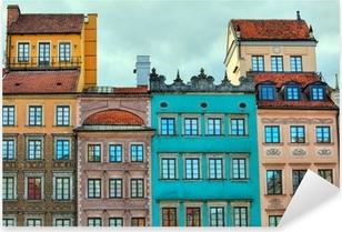 Pixerstick Sticker HDR beeld van oude Warschau huizen