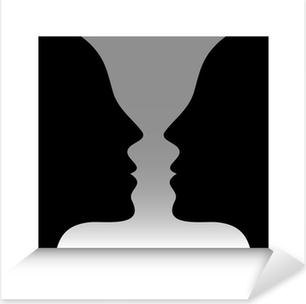 Pixerstick Sticker Head To Head Optische illusie
