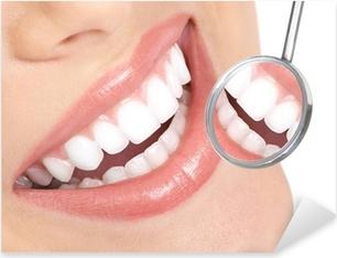 healthy teeth Pixerstick Sticker