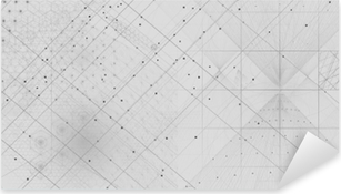 Pixerstick Sticker Heilige geometrie symbolen en elementen achtergrond